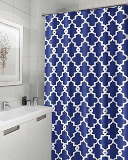 Geometric Patterned Waterproof 100% Polyester Fabric Shower