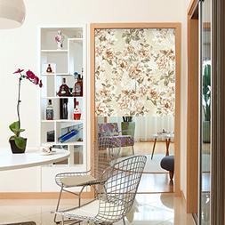 Gessppo Door Curtain Nordic Style Leaves and Flower Doorway