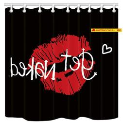 get naked shower curtain sexy red lip