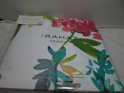 Tahari Home GIACOMO WILD FIORE Floral Shower Curtain 72x72 ~
