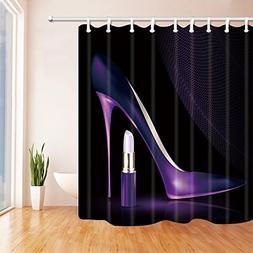 Girly Decor Shower Curtain by KOTOM, Purple ladies High Heel