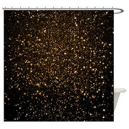 CafePress - Gold Black Glitter - Decorative Fabric Shower Cu