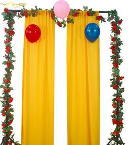 Gold Chiffon Backdrop Living Room Divider <font><b>Curtain</