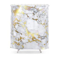 """Society6 Original Gold Marble Shower Curtain 71"""" by 74"""""""