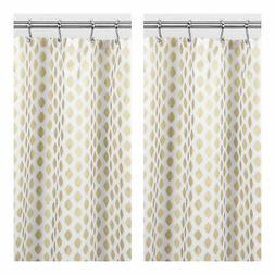mDesign Gold Metallic Diamond Print Fabric Shower Curtain -