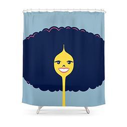 "Society6 Good Hair Days: Big Shower Curtain 71"" by 74"""