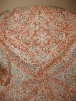 MADISON PARK GRACE CORAL SHOWER CURTAIN 72X72 SO PRETTY!  NW