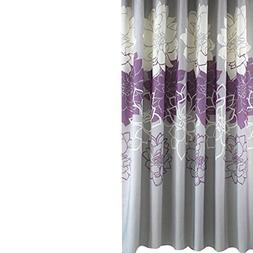 Sfoothome Small Size 36 by72 inch Gray Background Purple Flo