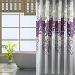 Gray Background and Flowers Pattern,Mildew Proof and Waterpr
