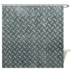 CafePress Gray Diamond Plate Pattern Shower Curtain