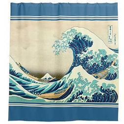 HACASO The Great Waves Bathroom Curtains Japanese Design Fab