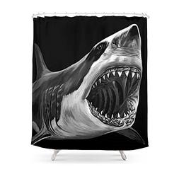 "Society6 Great White Shark Shower Curtain 71"" by 74"""
