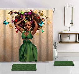 Green Dress Shower Curtain