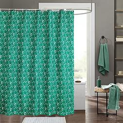 Eforgift Green Leaves Printed Shower Curtains Mildew Proof W