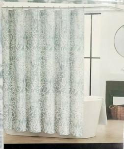 TAHARI HOME Green Silver White Medallion Paisley Floral Fabr
