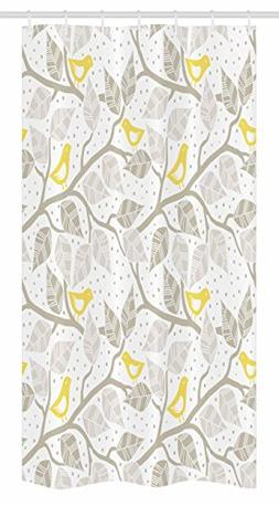 Ambesonne Grey Stall Shower Curtain by, Birds on the Branch