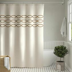 Charlton Home Gridley Cotton Single Shower Curtain
