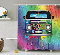 Ambesonne Groovy Decorations Shower Curtain Set, Old Style H