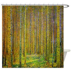CafePress Gustav Klimt Pine Forest Shower Curtain Decorative