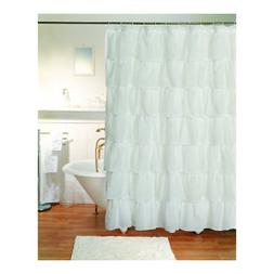 Gypsy Ruffled Shower Curtain White