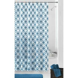 Mainstays Hadley Teal PEVA Shower Curtain