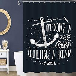 Hand Drawn Nautical Anchor with a Sailor Quote Inspriational