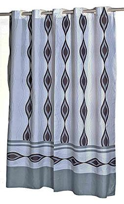 Harlequin EZ On Hookless Fabric Extra Long Shower Curtain Wi