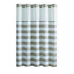 Hookless Harndye Stripe PEVA Lined Shower Curtain - Tan