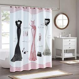 DS BATH Haute Pink Shower Curtain,Mildew Resistant Shower Cu