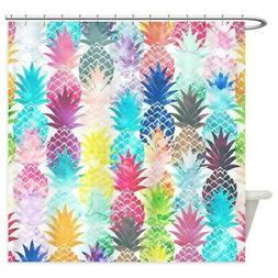 CafePress Hawaiian Pineapple Pattern Tropical Shower Curtain