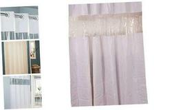 """HBH08VIS01 Vision Shower Curtain White With Clear Top 71"""" x"""