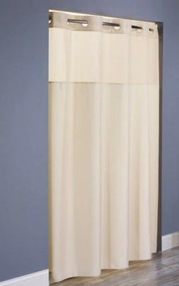 Hookless HBH49MYS05SL77 Illusion Shower Curtain With Snap In