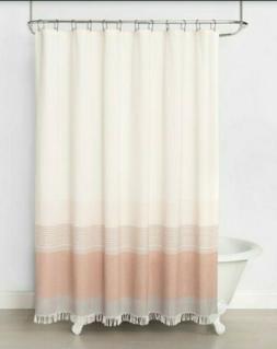 Hearth & Hand Magnolia Ombre Copper Stripe Shower Curtain 72