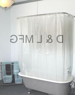 HEAVY DUTY CLAWFOOT VINYL SHOWER CURTAIN/OPAQUE WITHOUT MAGN