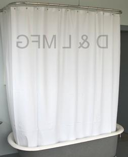 Heavy Duty Vinyl Clawfoot Tub Shower Curtain/White without m