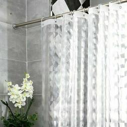 Heavy Duty EVA Shower Curtain Liner 3D Water Cube Clear Bath