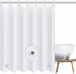 Heavy Duty Mildew Free Waterproof Shower Curtain Liner With