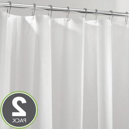 New 2 Pack Shower Curtain Liner Mildew Resistant Water Repel