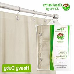 Clean Healthy Living Heavy Duty PEVA Shower Liner/Curtain: O
