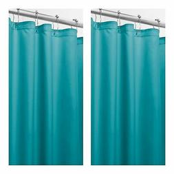mDesign Heavy Duty Woven Fabric Shower Curtain/Liner - 2 Pac