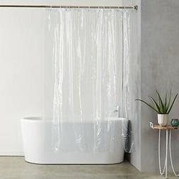 Shower Curtain Ultra Heavyweight 20 Gauge PVC Liner With Hoo