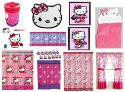 Hello Kitty Bathroom Accessories Shower Curtain Towels Waste