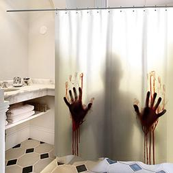 Help Me Scary Bloody Hands Silhouette Shadow Shower Curtain