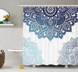 Ambesonne Henna Shower Curtain, South Asian Mandala Design w