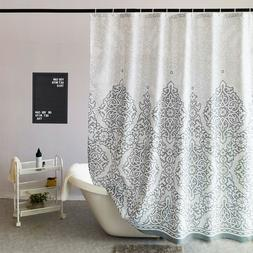 High Quality Fabric Shower Curtain Extra Long for Bathroom W