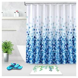 "High Quality Fabric Shower Curtain Blue Petals 72""X72"" or 72"