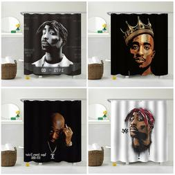 hip hop 2pac waterproof shower curtain dorm