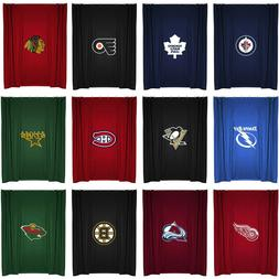 NHL Hockey Team Logo Bath Shower Curtain Bathroom Accessorie