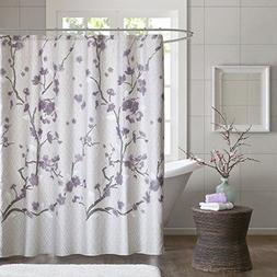 """Holly Cotton Shower Curtain Purple 72x72"""""""