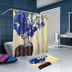 ALFALFA Home Bathroom Decorative Fashion Woman Theme Polyest